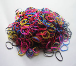 Mini Rubber Bands in Assortment of Colours - 250pcs per pack